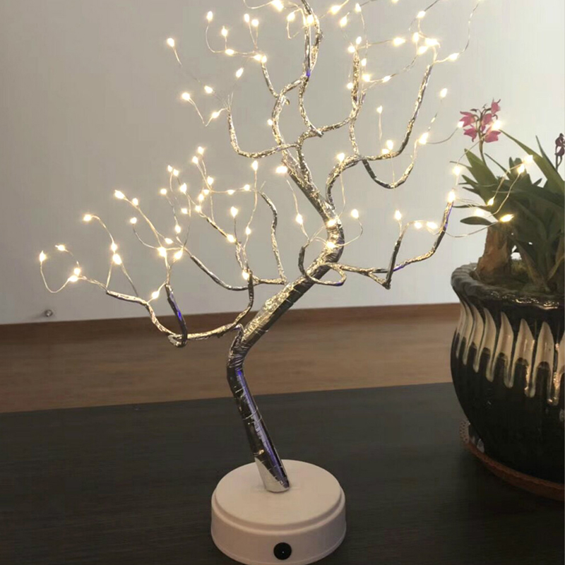 36 108 Led Light Up Tree Multi Decoration Desk Bonsai Tree Table
