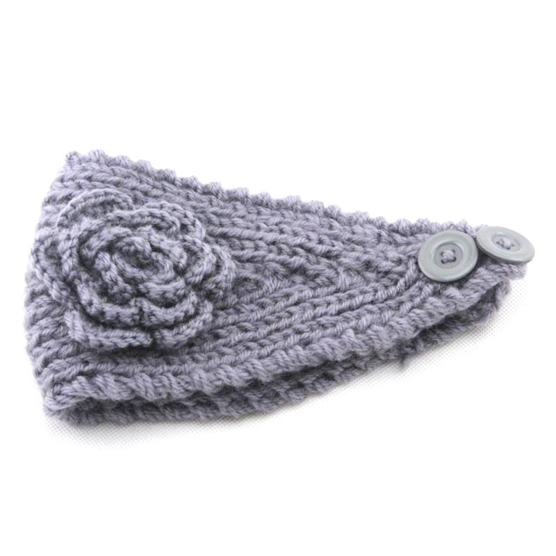 Women Winter Ear Warmer Headwrap Fashion Crochet Headband Knit Flower Hairband