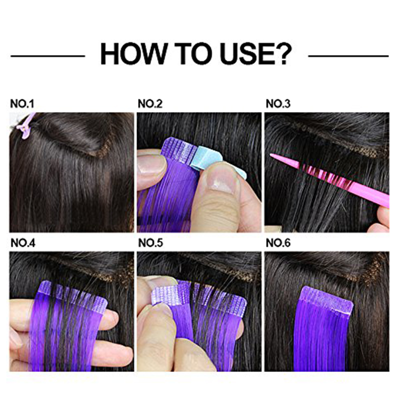 Hair Extensions 5 Sheets Double Sided Adhesive Tape Hair Extension