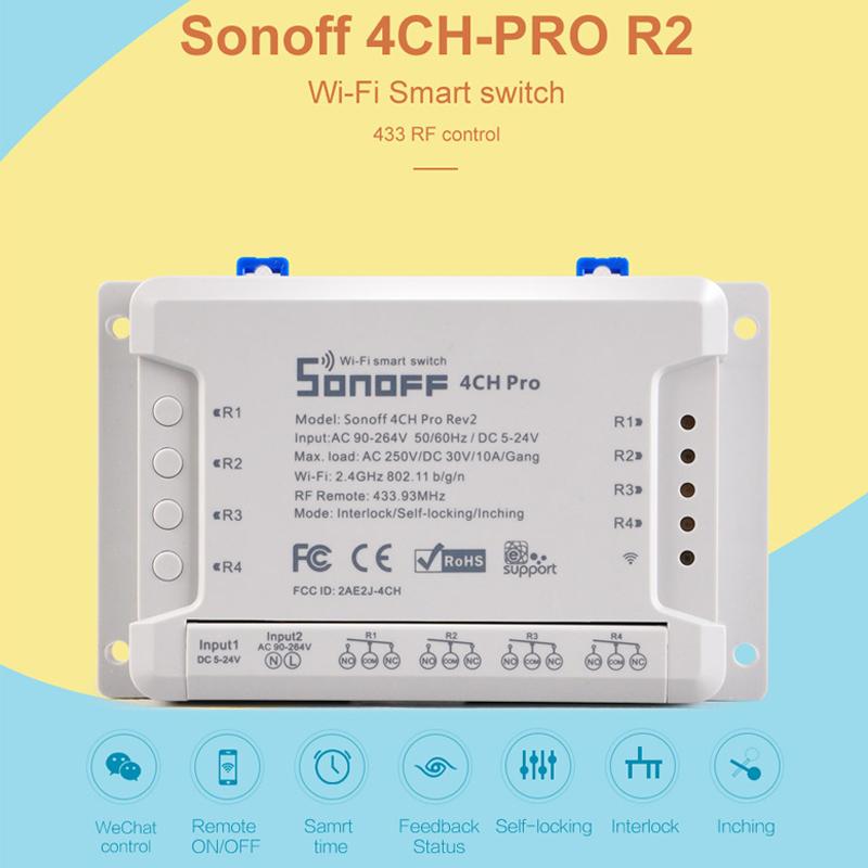 Sonoff 4ch Pro R2 4 Way Mounting Wifi Wireless Smart