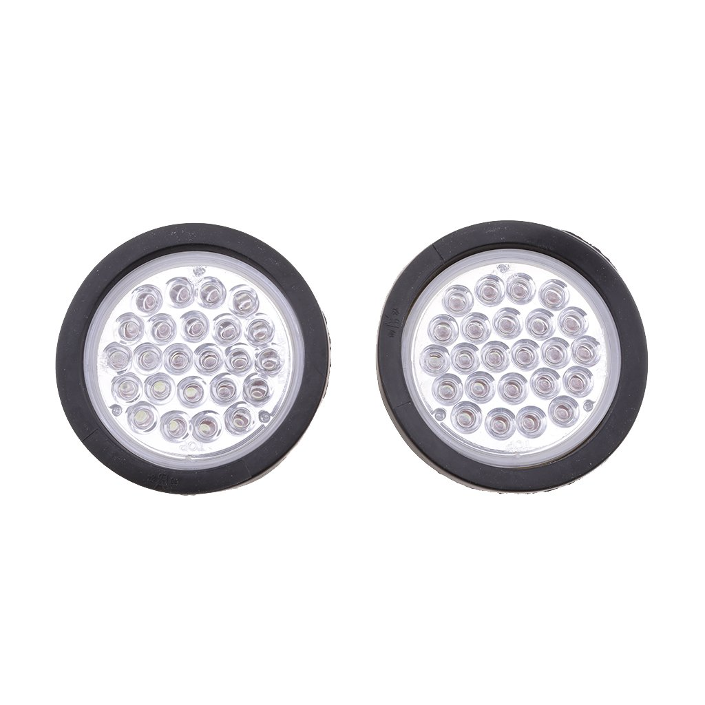 4 U201d Inch 24 Led Round Stop Turn Tail Backup Reverse Truck