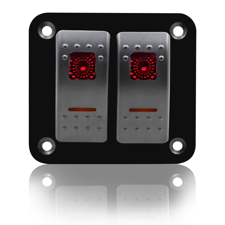 1 X ON//OFF LED 12V 16A DOT ROUND ROCKER SPST TOGGLE SWITCH SPR BOAT LIGHT cb