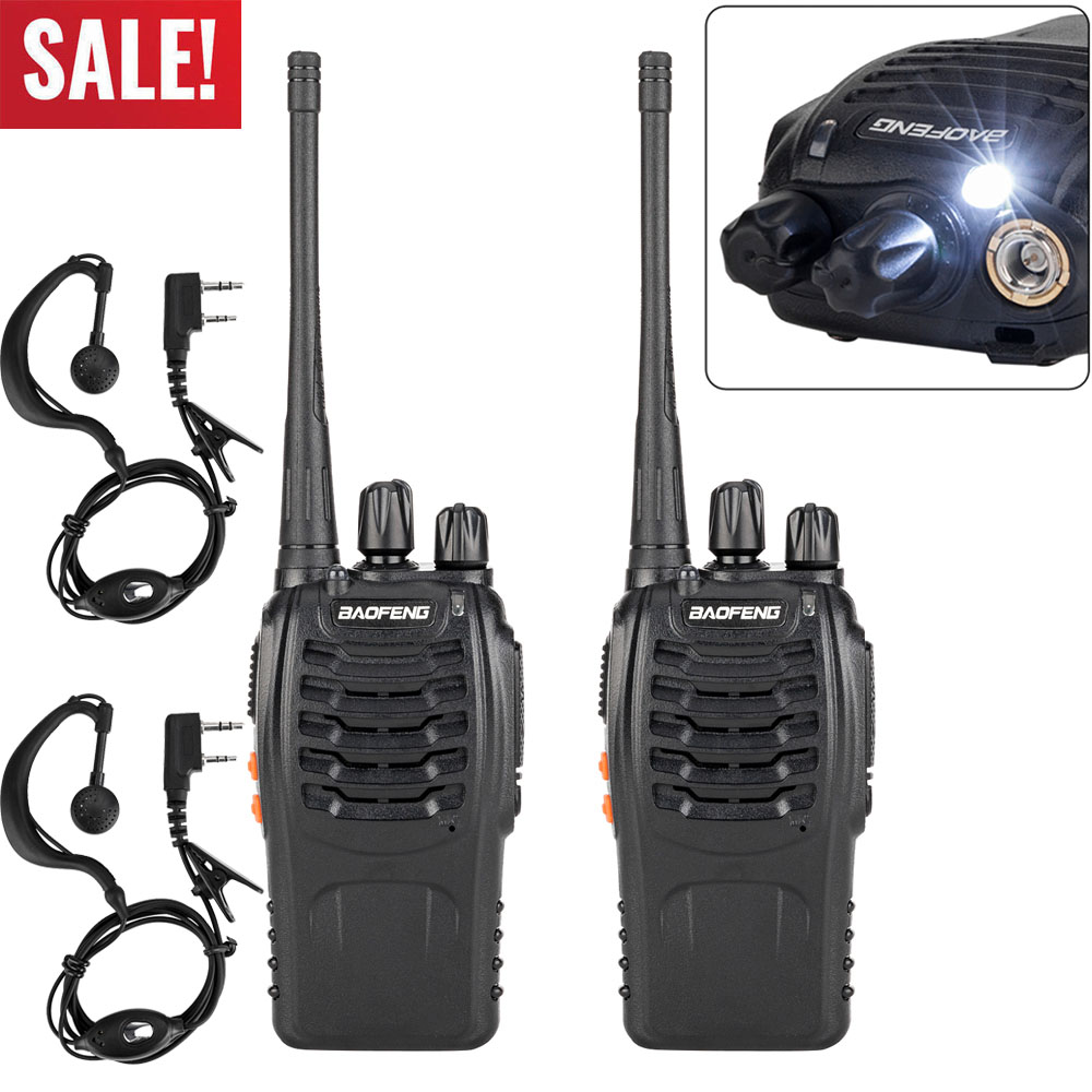 Long Range Walkie Talkie 2 Set 10 Mile Two Way Radio Charge Headset Waterproof