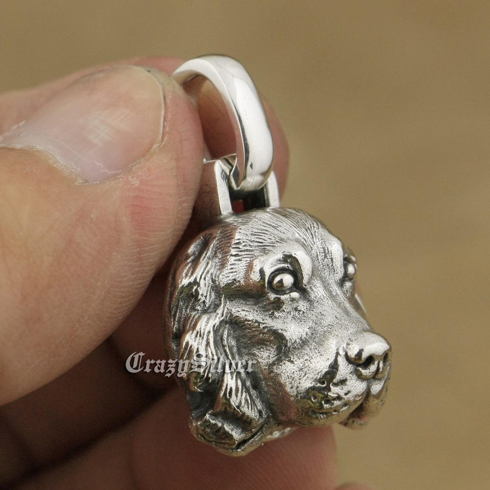 .925 Sterling Silver Enameled Small Cocker Spaniel Dog Charm Pendant MSRP $283