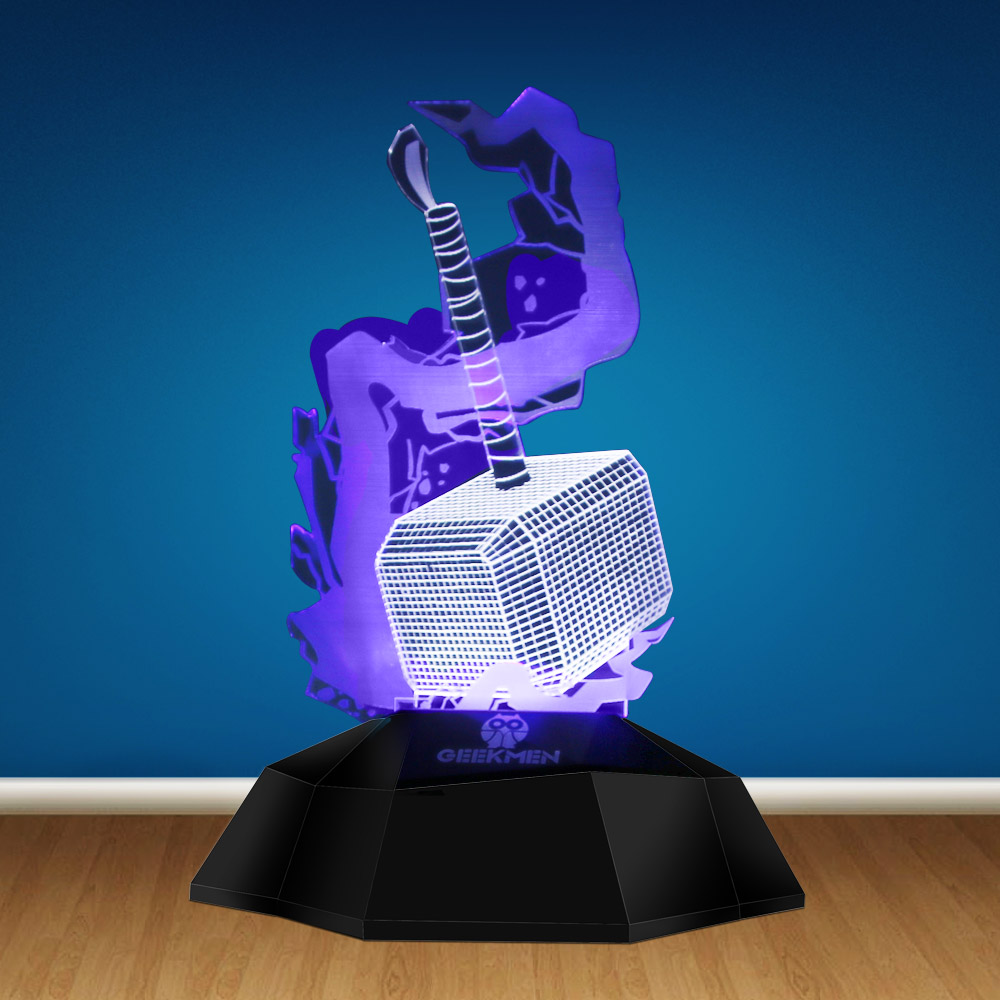 3D LINE LAMP Avengers Thor Hammer Iron Man