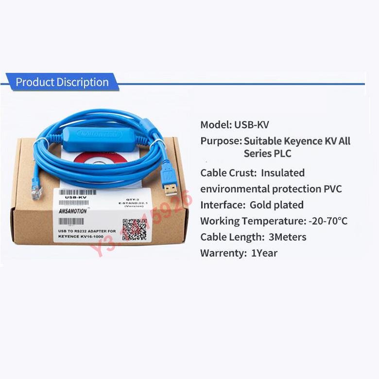 USB-KV Suitable Keyence KV all Series Programming Cable PC-KV Download Cable