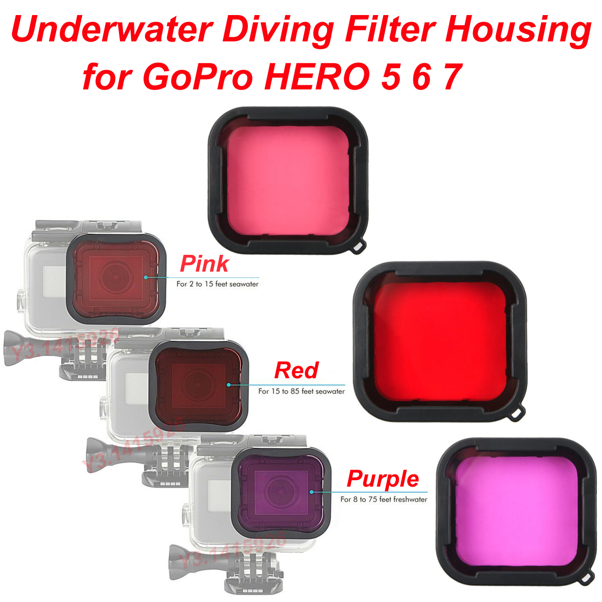 1pc For Gopro Hero 6 5 Accessories Diving Filters Lens For Gopro Hero6 5Black KI