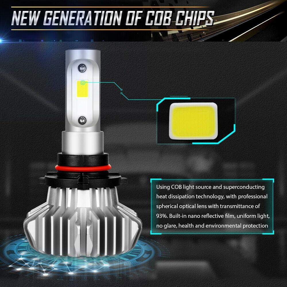 2pcs 9005 HB3 LED Headlight Kit 1800W 270000LM Hi//Lo Beam Bulbs 6000K White