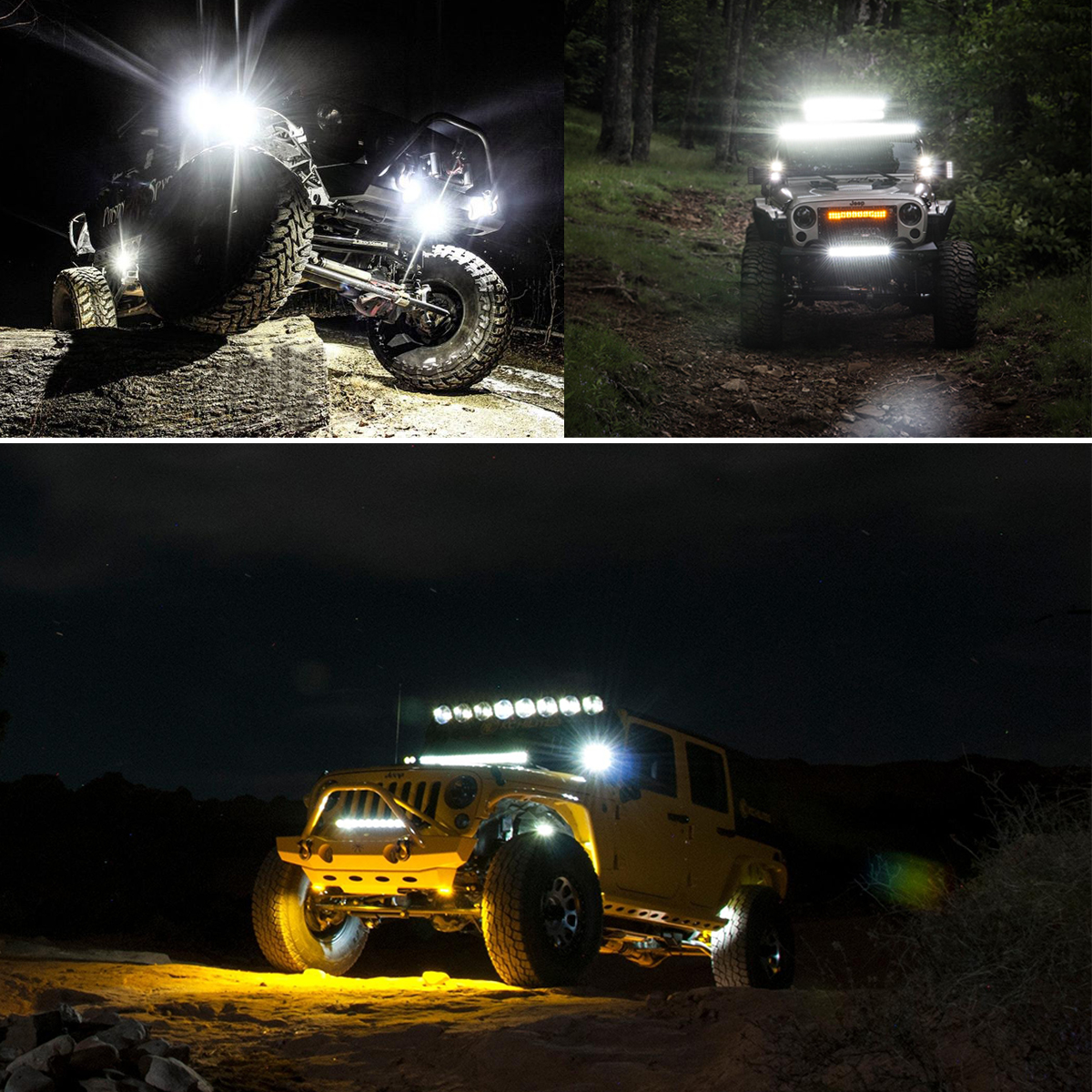 """4/"""" Spot PODS OFFROAD SUV 4WD Ford 50//20/"""" 52Inch 2720W LED Light Bar Combo 22/"""""""
