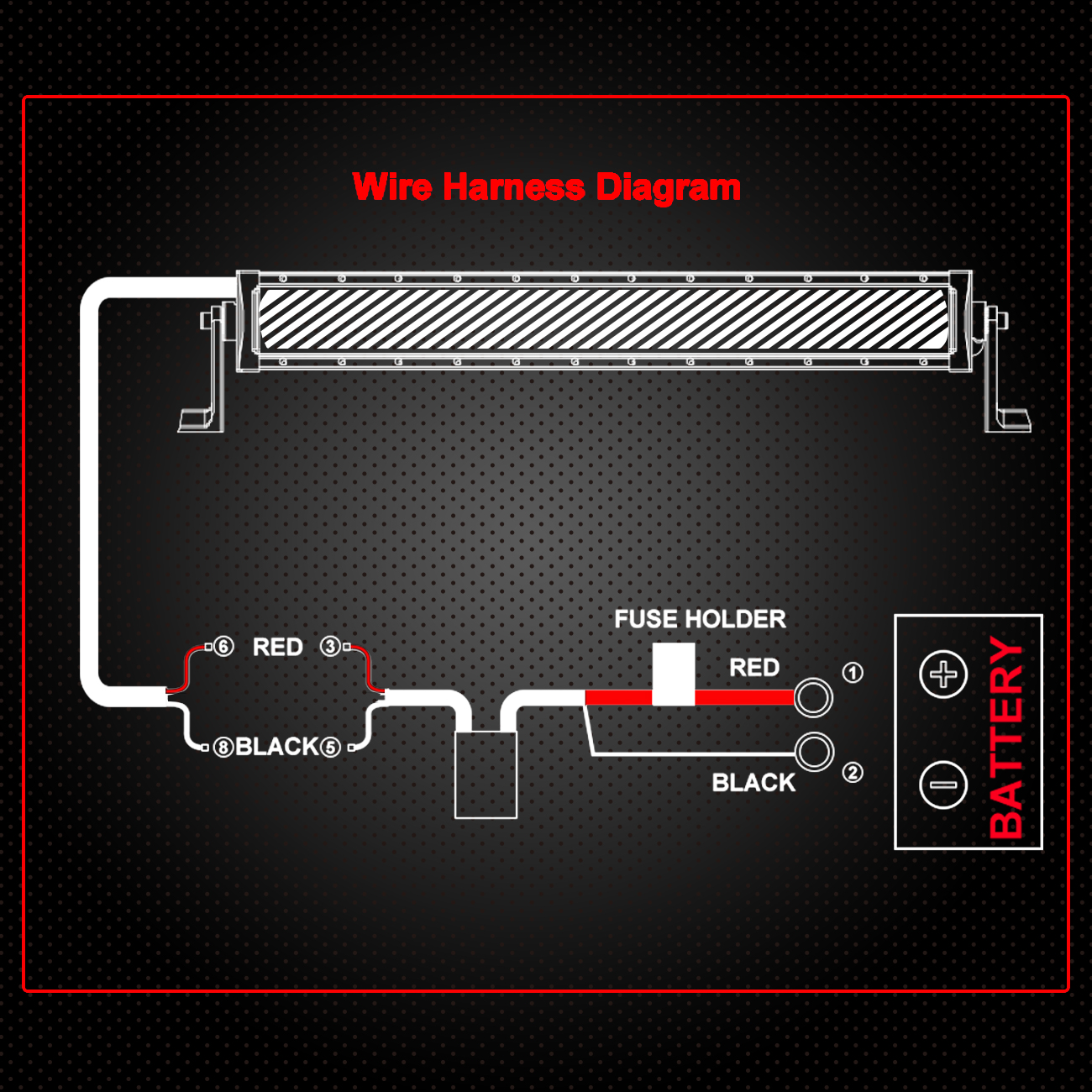 Star Light Bar Wiring Diagram About Whelen Inner Edge Universal Led Harness Kit 40a 12v Relay Fuse Remote Wire Routing