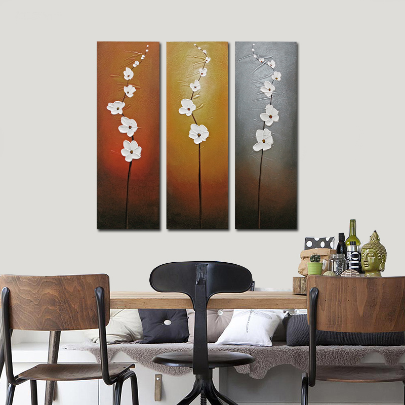 Wall Art Canvas Brown : Framed original oil painting on canvas home decor wall art