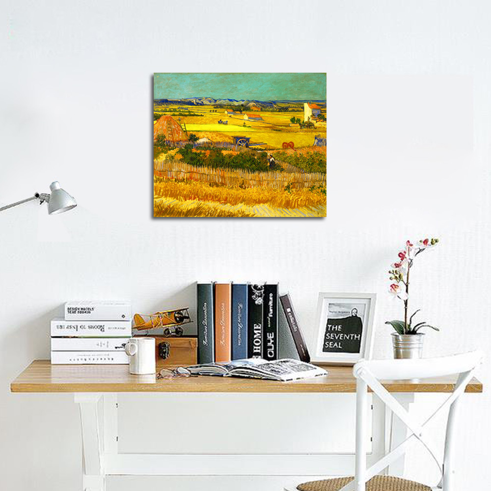 canvas print picture van gogh paintings home decor wall art golden canvas print picture van gogh paintings home decor wall art golden harvest frame