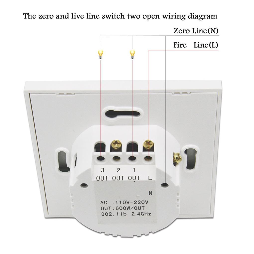 1 2 3 Gang Glass Panel Home Wall Light Smart Touch Switch Wifi App Wiring Diagram Uk Control Eu