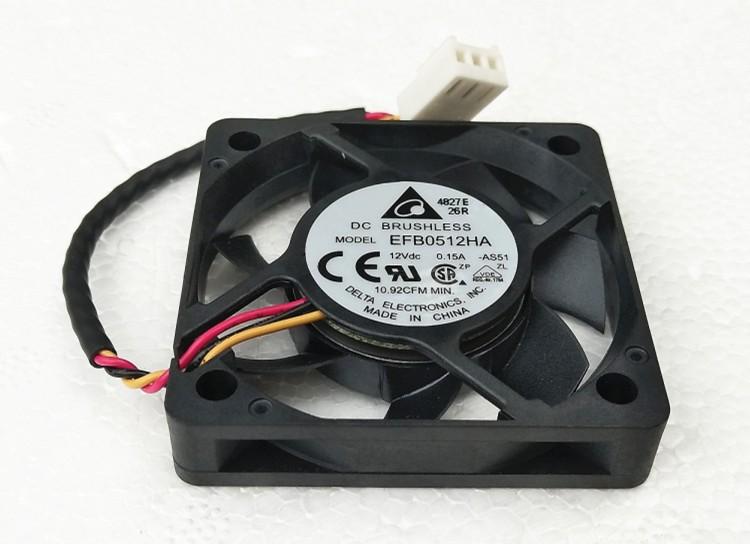 for DELTA EFB0512HHA DC12V 0.2A 50*50*10mm 4pin server cooling fan
