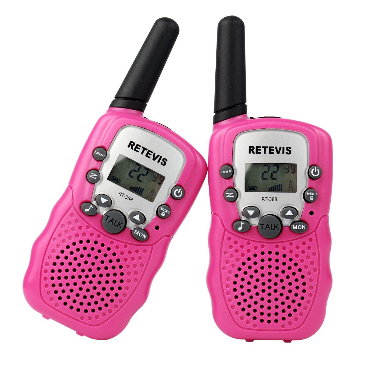 2xRetevis RT-388 Walkie Talkie UHF 0.5W 2-Way Radio CTCSS VOX For Kids US Seller