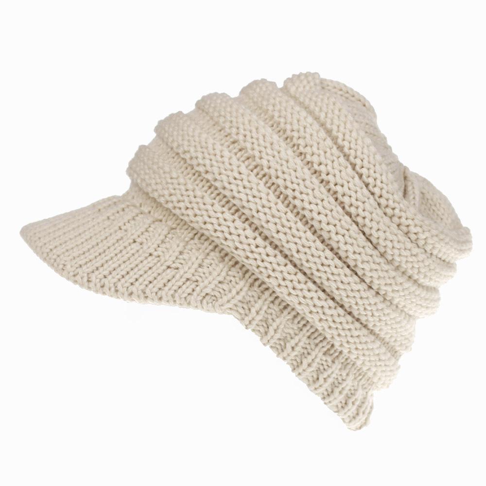 fc0ab425cacb6 Women S Knit Baseball Cap Open Ponytail Hat Men And Women Hat Ski Sports Cap