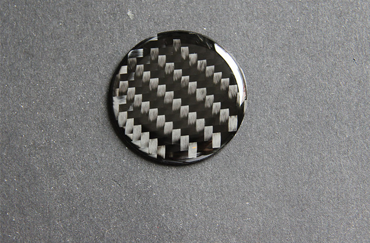1×Carbon Fiber Central Control Knob Cover Sticker for Jeep Grand Cherokee 14-18