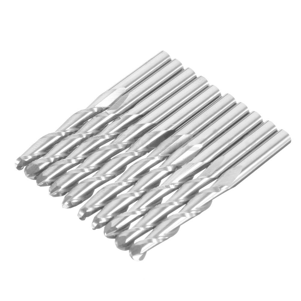 "US Stock 5pcs 1mm 2 Flute Carbide Spiral End Mills Router Bit CEL 5mm Shank 1//8/"""