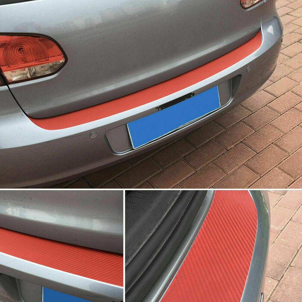 Universal 3D Carbon Fiber Car Sticker Rear Bumper Trunk Tail Lip Protect Decor