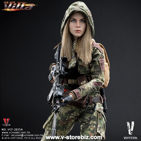 HK Assault Rifle 1//6 Scale Very Cool Action Figures Villa Sister Flower