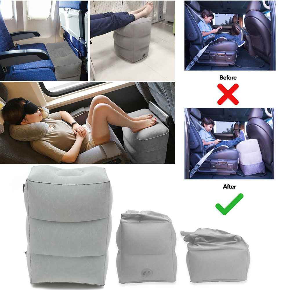 Inflatable Beds With Legs: Inflatable Office Car Travel Footrest Leg Rest Pillow