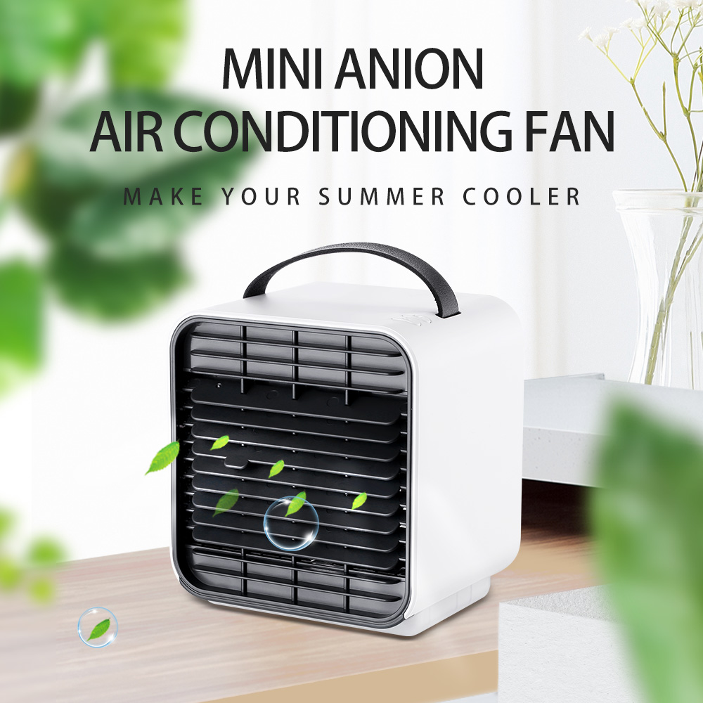 Mini Air Conditioner Humidifier Fan Portable Cooling Low