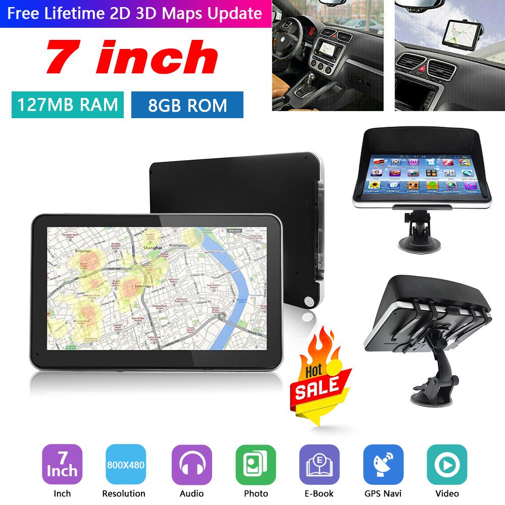 7/'/' Inch 8GB HGV LGV GPS SAT Car NAV Navigation Truck+Free World Maps Updates UK