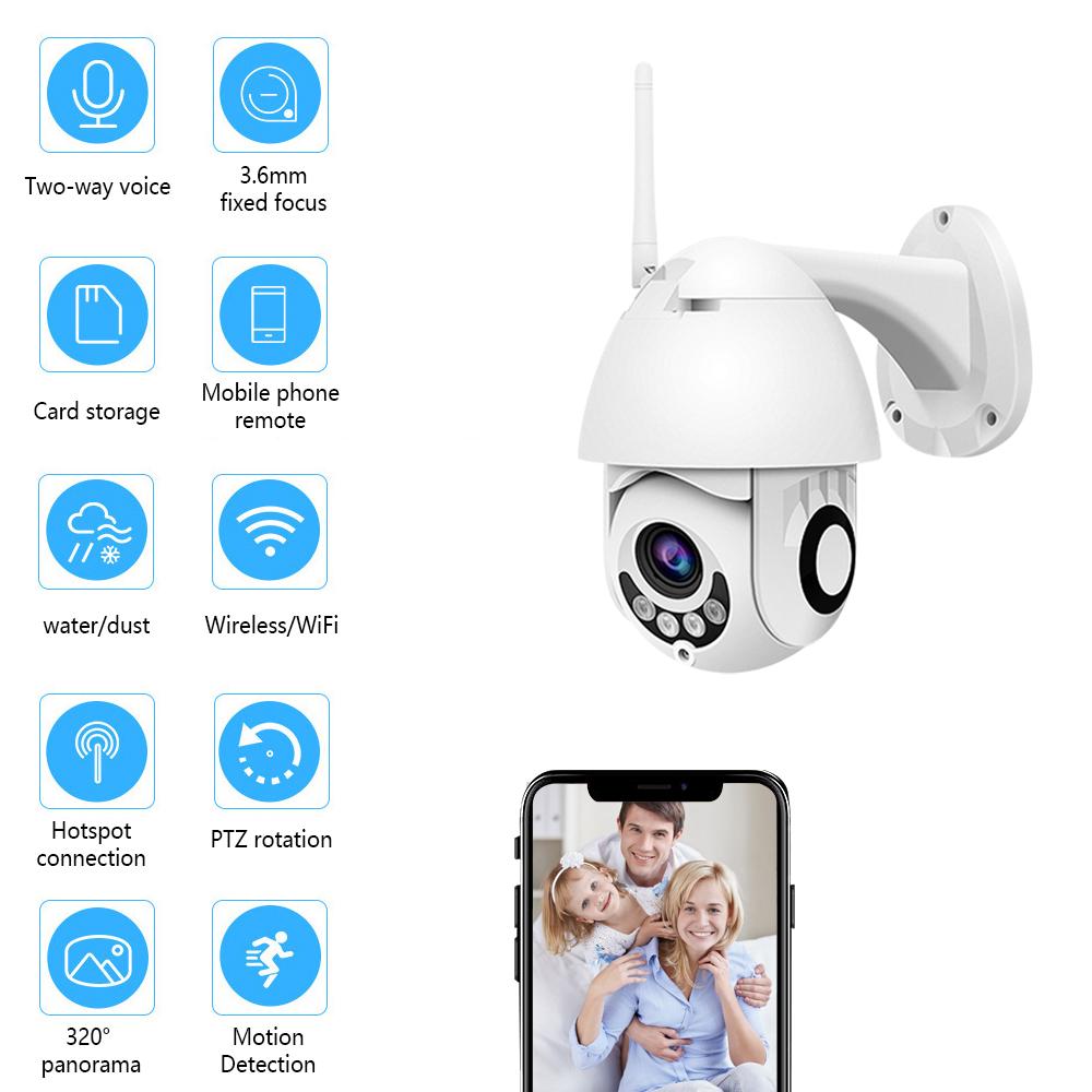 1080P WIFI IP Camera WHITE Wireless Outdoor CCTV HD Home Security IR Cam