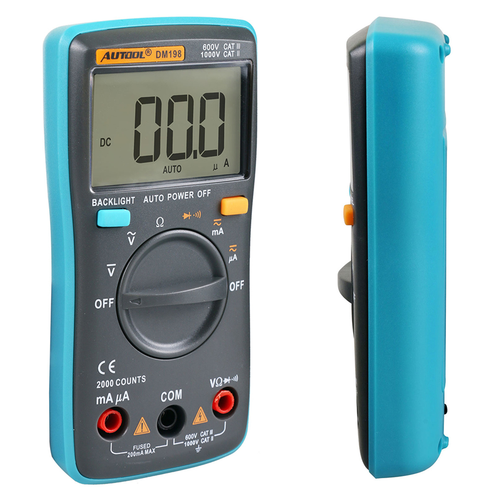 Digital LCD Multimeter XL830L Voltmeter DC AC OHM Amperemeter Messgerät Tester