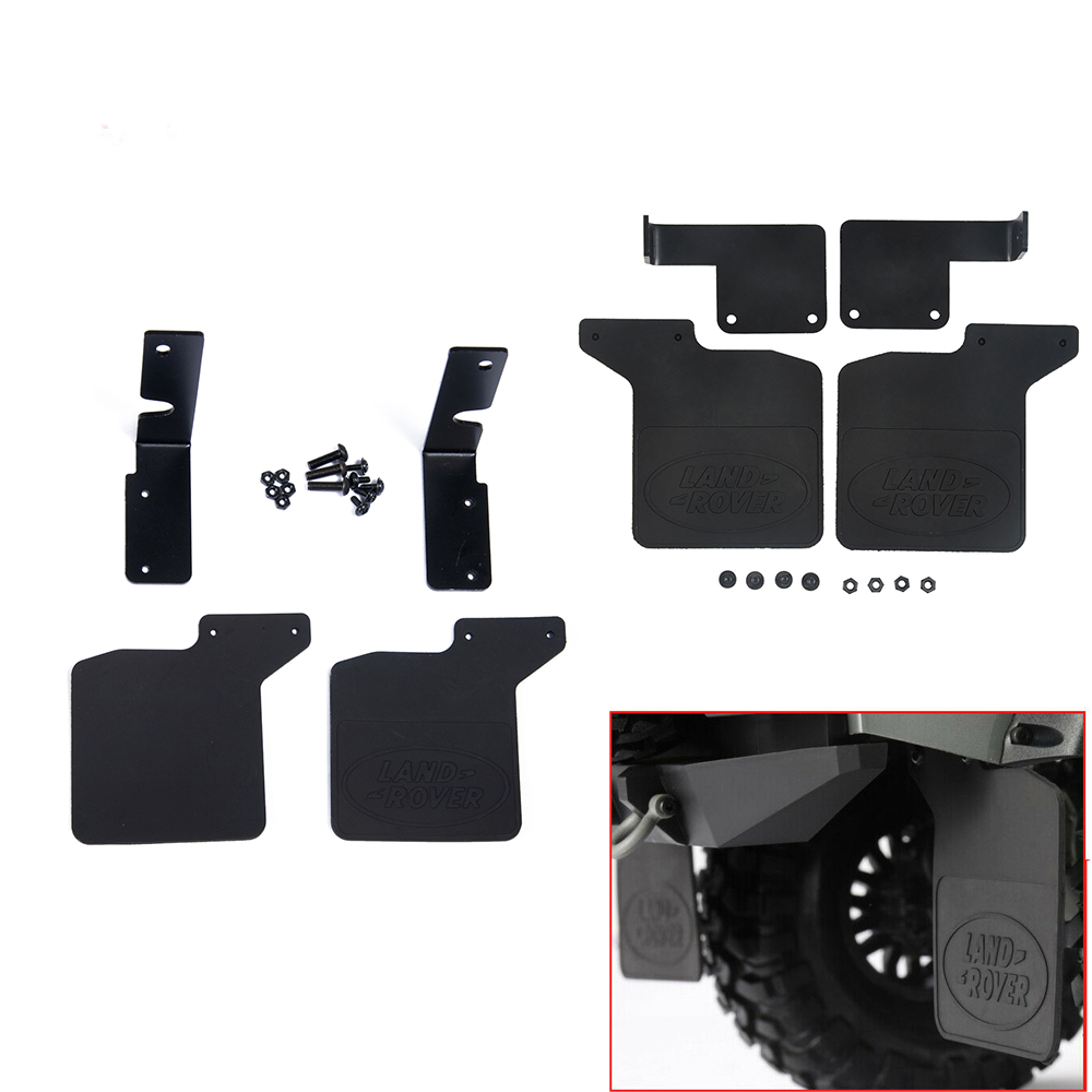 Front Rear Rubber Fender Mud Flaps for 1//10 RC Crawler Car Traxxas TRX4 Defender