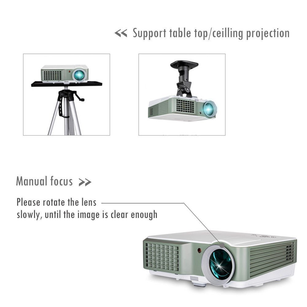Led lcd 4000lumens video projector 1080p hd home theater hdmi usb led lcd 4000lumens video projector 1080p hd home theater hdmi usb multimedia tv ccuart Images
