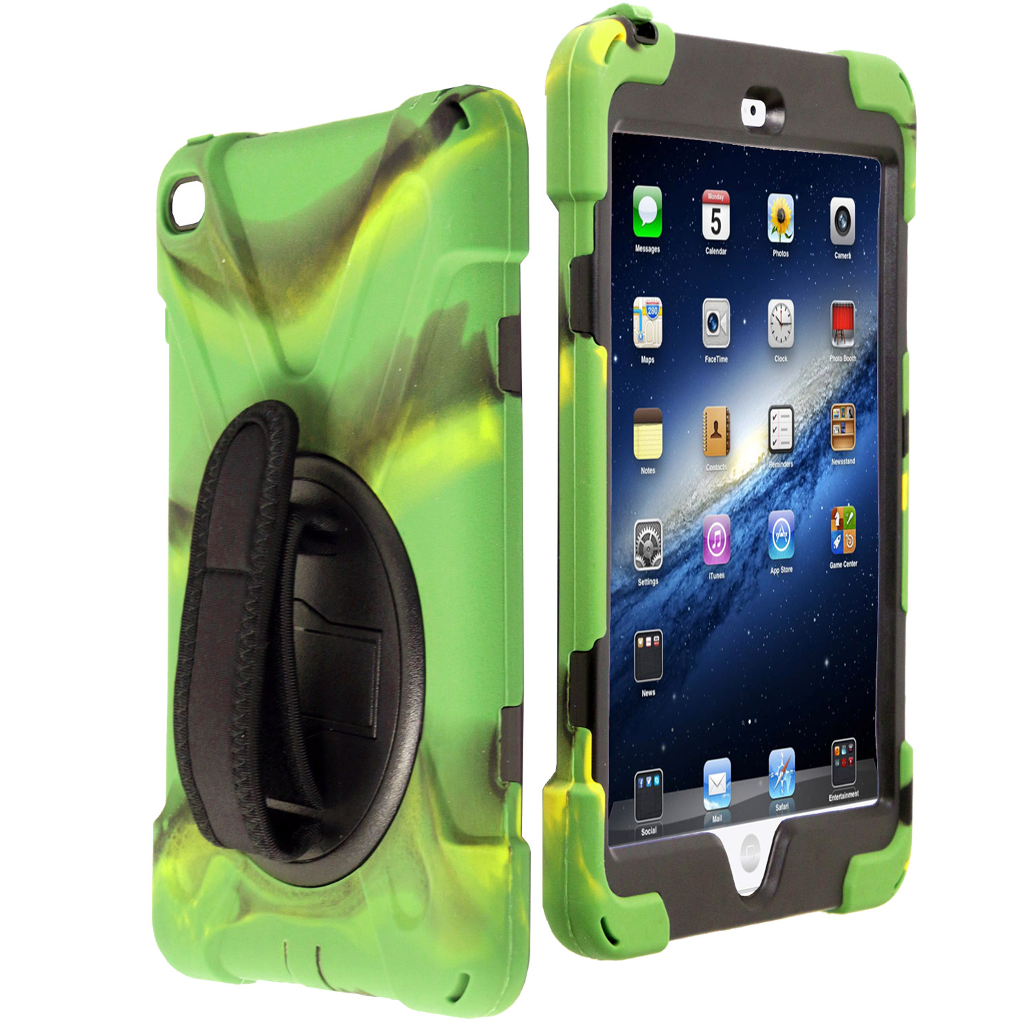 Shockproof Protective Cover Case Kickstand Hand Strap for Apple iPad Mini 1/2/3