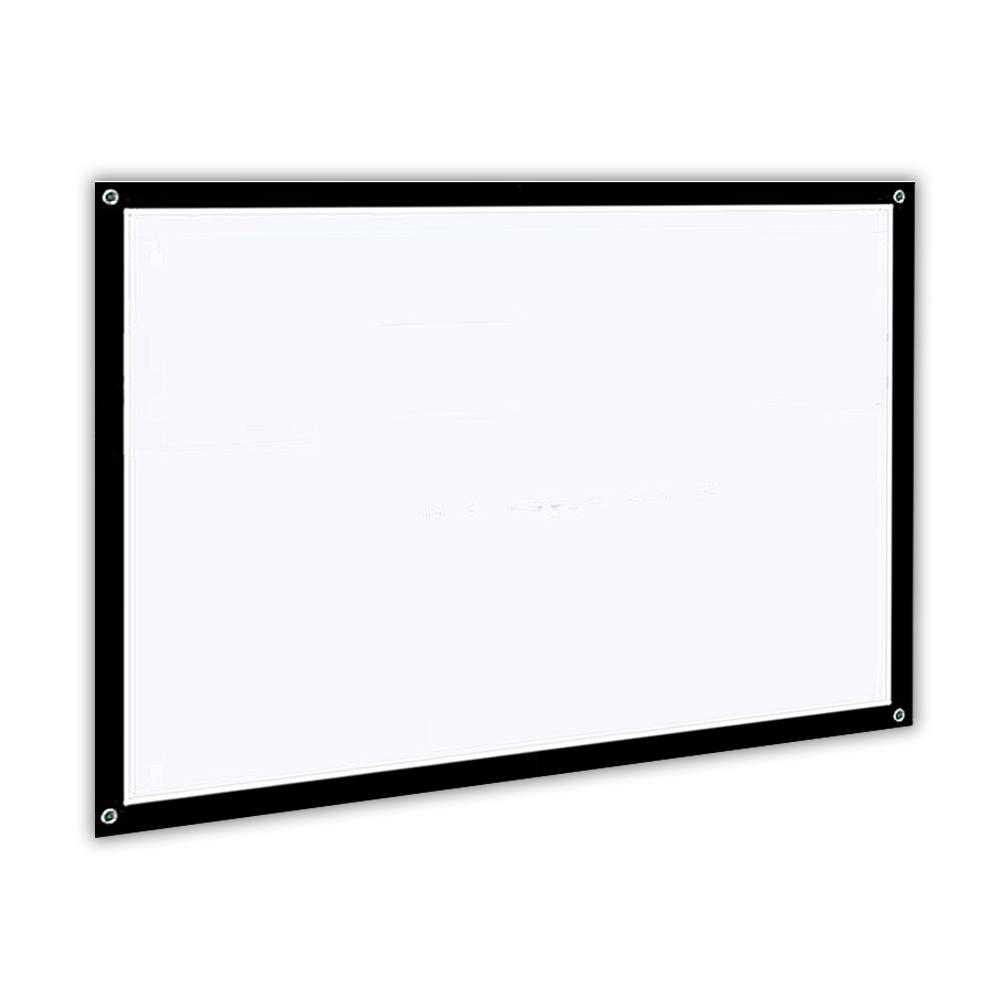 16:9 60\'\' 72\'\' 84\'\' 100\'\' Projector Screen 3D HD Home Cinema Outdoor ...