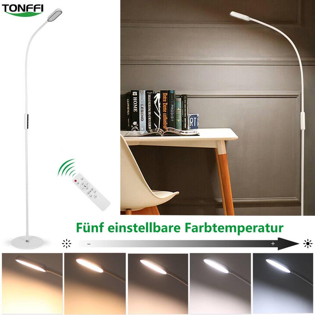 Details zu LED Stehlampe 16W Stehleuchte Dimmbar Touch Leselampe Wohnzimmer  Deckenfluter DHL
