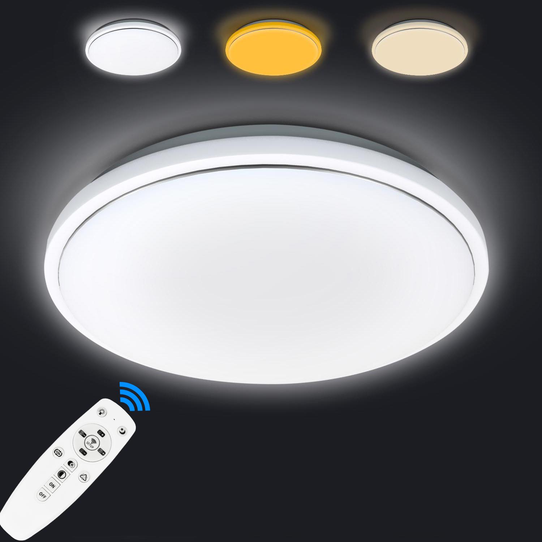 dimmbar led deckenleuchte deckenlampe f r badezimmer balkon k che wohnzimmer 62w ebay