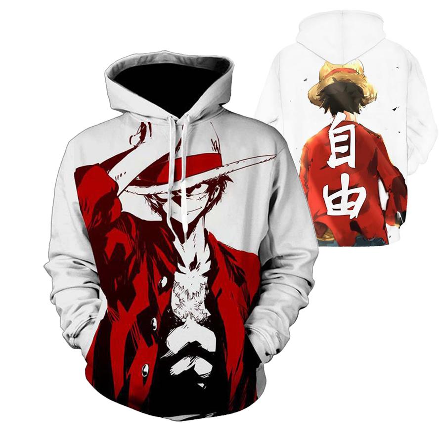 Cosplay Anime ONE PIECE Hoodie Sweatshirt MEN WOMEN Long Sleeve Hooded Pullover