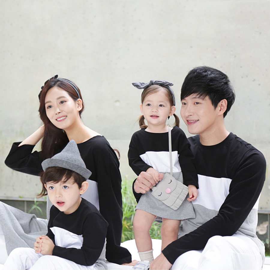 cdb76db9 Details about Family Matching Clothes Couple stripe Long sleeve Mom Dad Baby  Kids T-Shirts