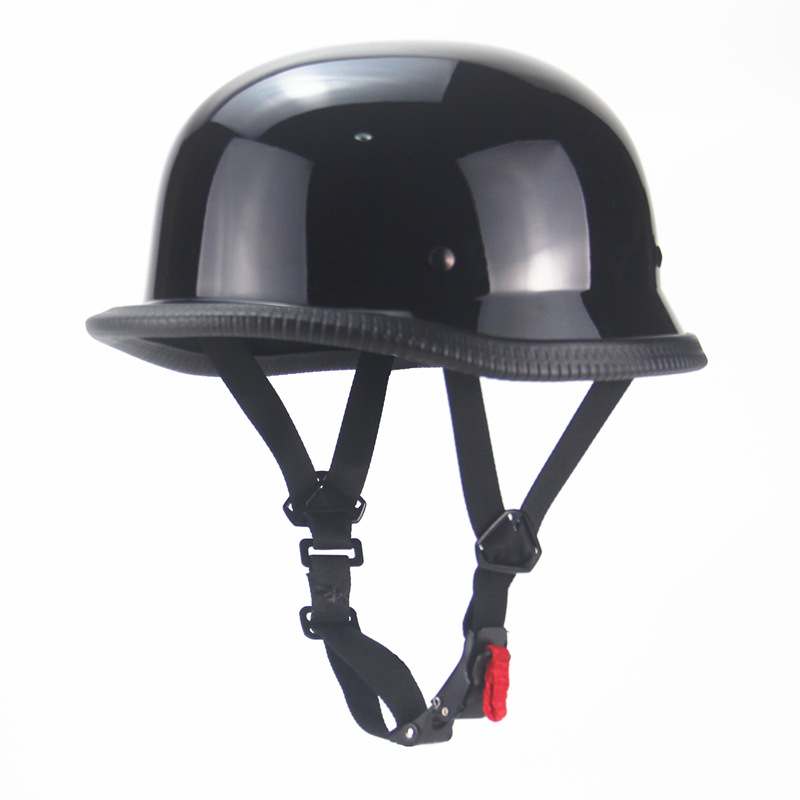 DOT German Motorcycle Half Helmet Chopper Scooter Leather Helmet S//M//L//XL//XXL