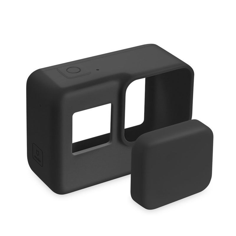 Silicone Lens Protective Cover Cap for Gopro Hero 7 6 5 Black