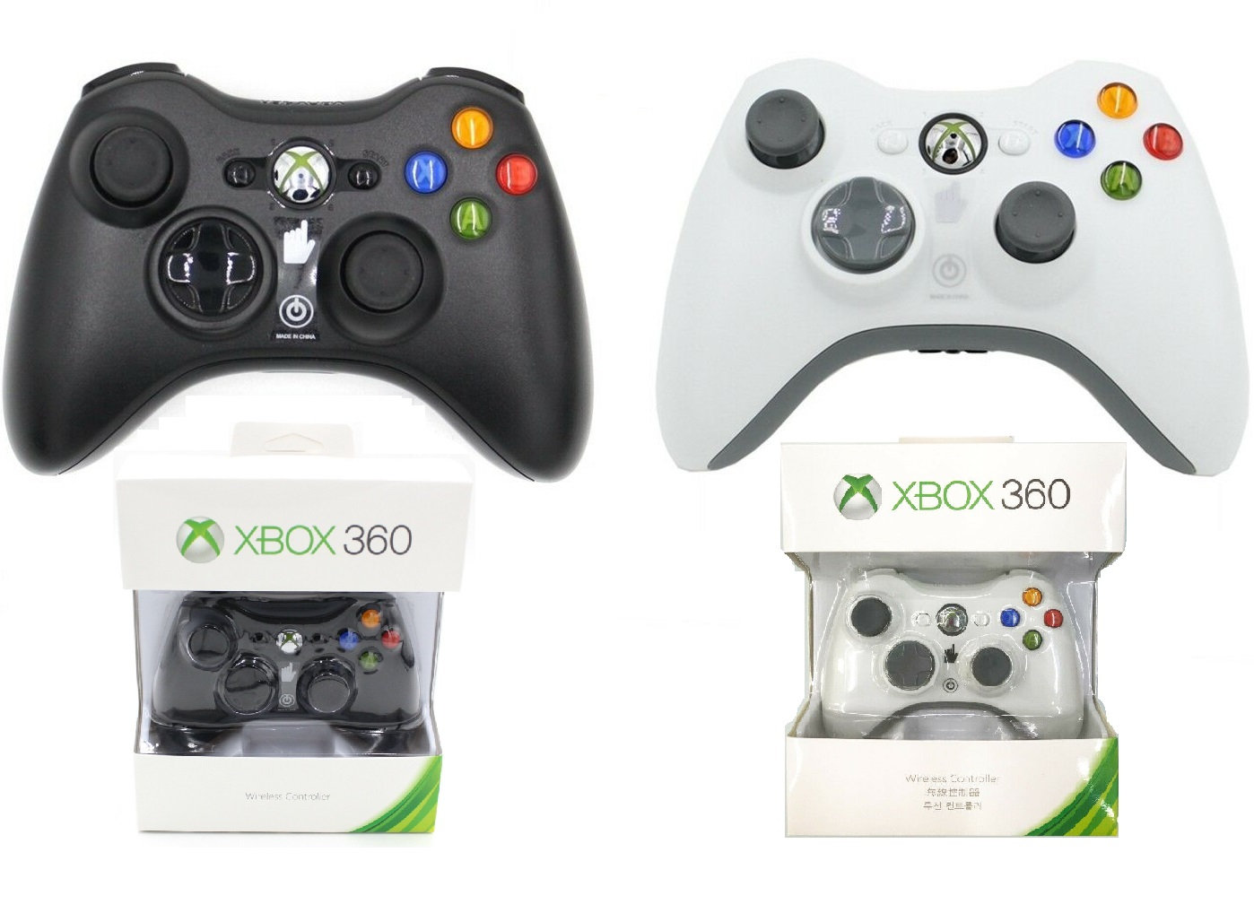 Details About New Blackwhite Xbox 360 Genuine Wireless Game Controller Gamepad For Windows