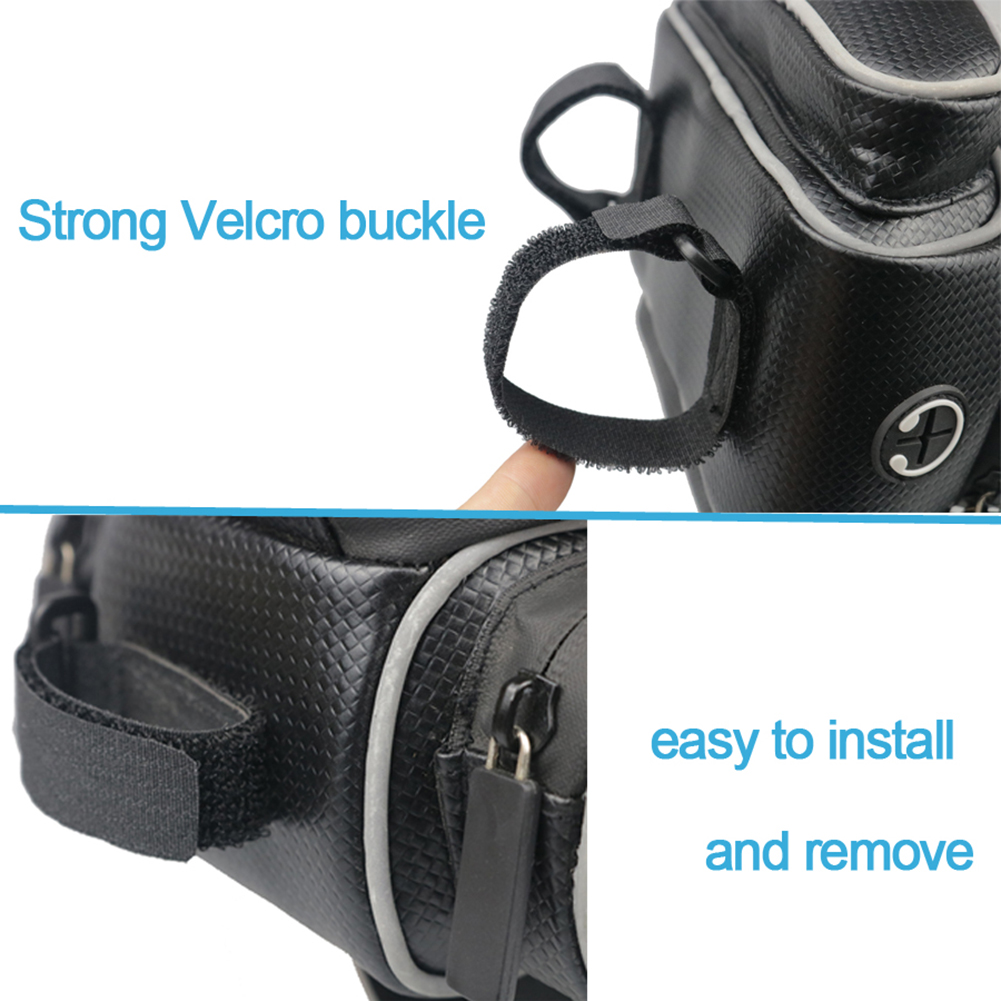 Bike Handlebar Riding Bag Touch Screen Phone Holder Bicycle Front Rockbros 017 1bk Mtb Tube Frame 6 Inch Waterproof Storage Pocket