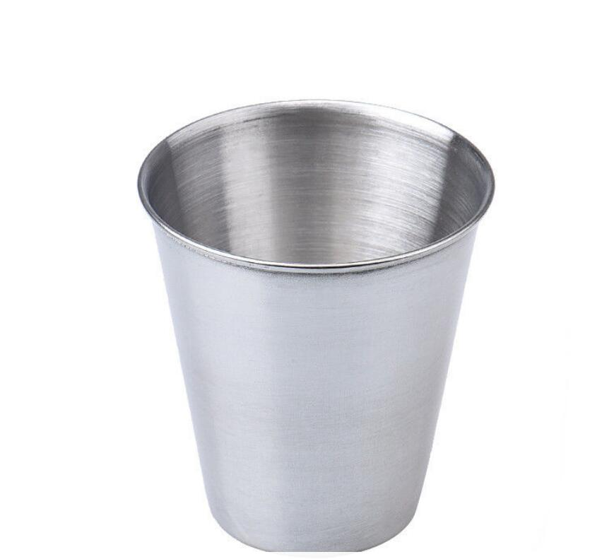 4pcs Stainless Steel Cover Mug Camping Cup Drinking Coffee Tea Beer With Cas BW