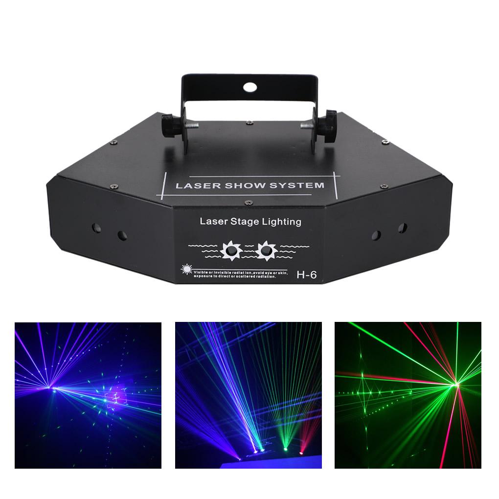Details About 6 Lens Rgb Color Beam Pattern Dmx Laser Light Home Party Show Dj Stage Lighting