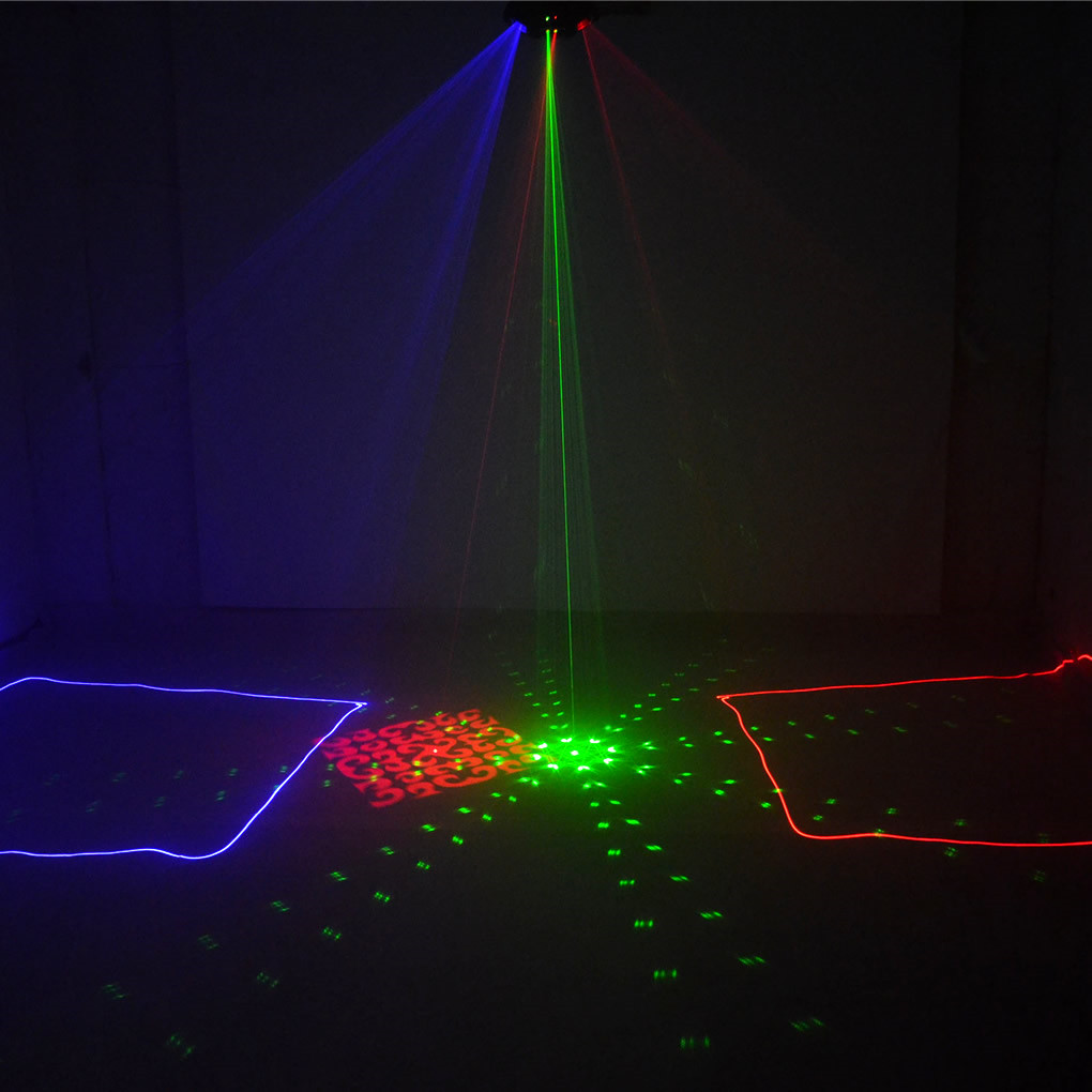 DMX 4 Len RGB Pattern Beam Network Laser Light Home Party DJ Stage ...