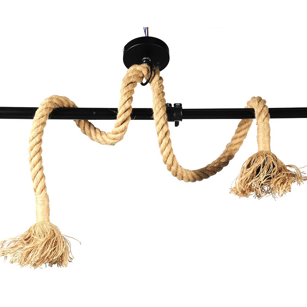 Industrial Vintage Retro Hemp Rope Hand Knitting Ceiling