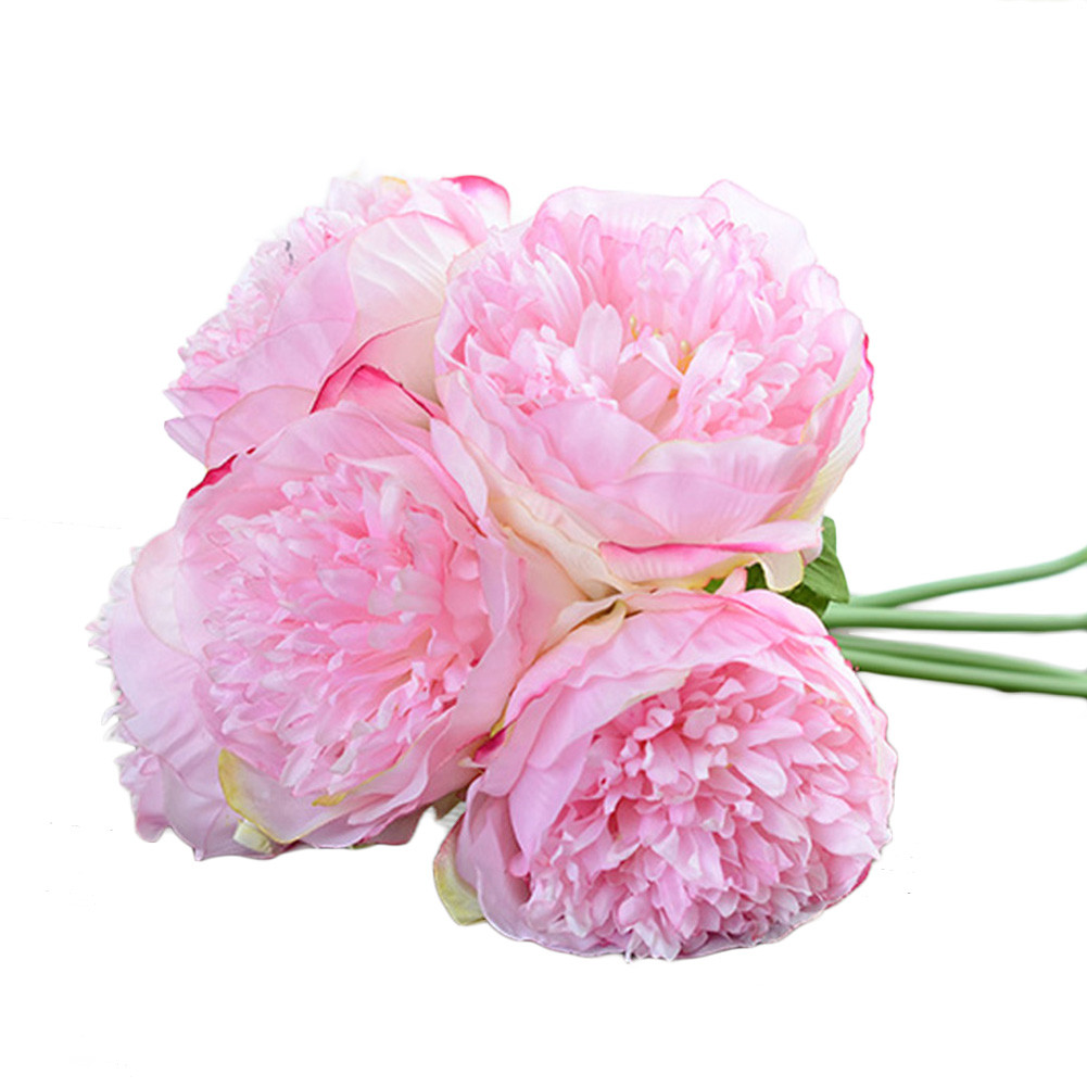 Hot Artificial Fake Peony Silk Flower Bridal Hydrangea Home Wedding