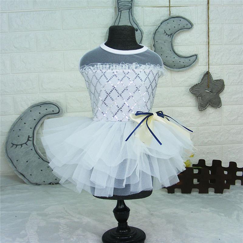 Dog-Cat-Bow-Tutu-Dress-Lace-Skirt-Pet-Puppy-Dog-Princess-Wedding-Apparel-Clothes thumbnail 13