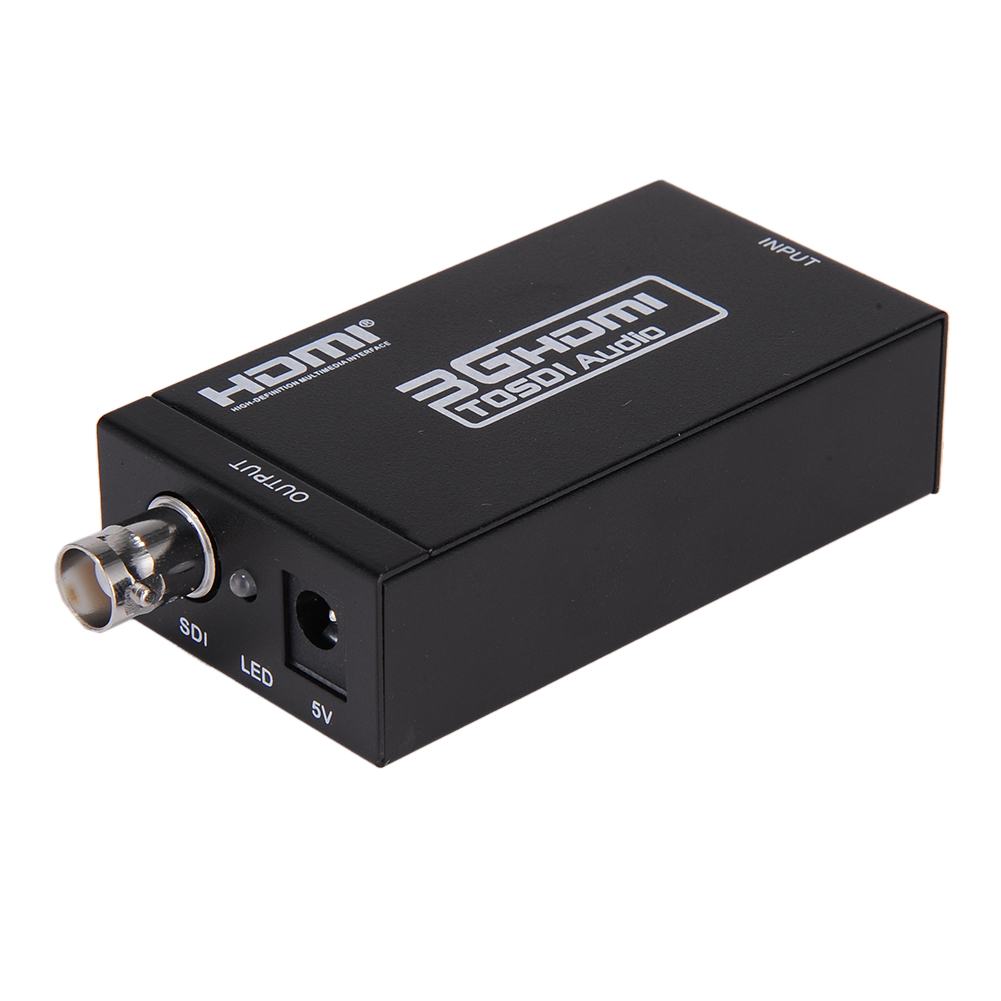 hdmi to sdi 1080p hd video audio converter coaxial cables hdmi extender adapter ebay. Black Bedroom Furniture Sets. Home Design Ideas