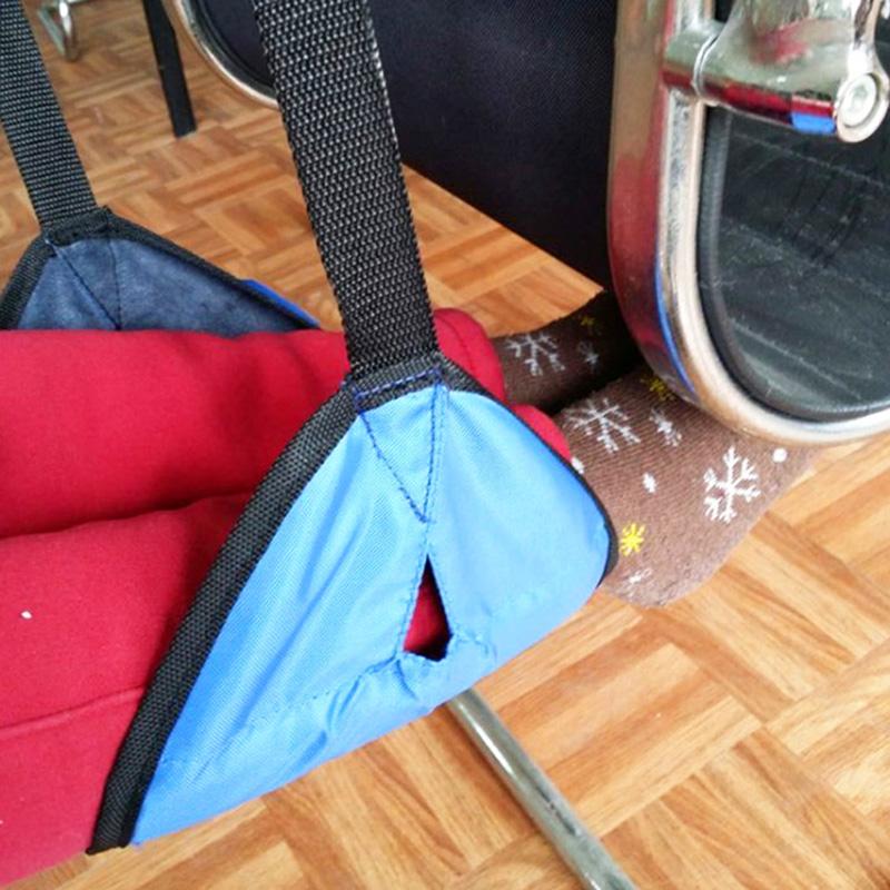 Portablt Travel Foot Rest Hammock Flight Carry On Leg