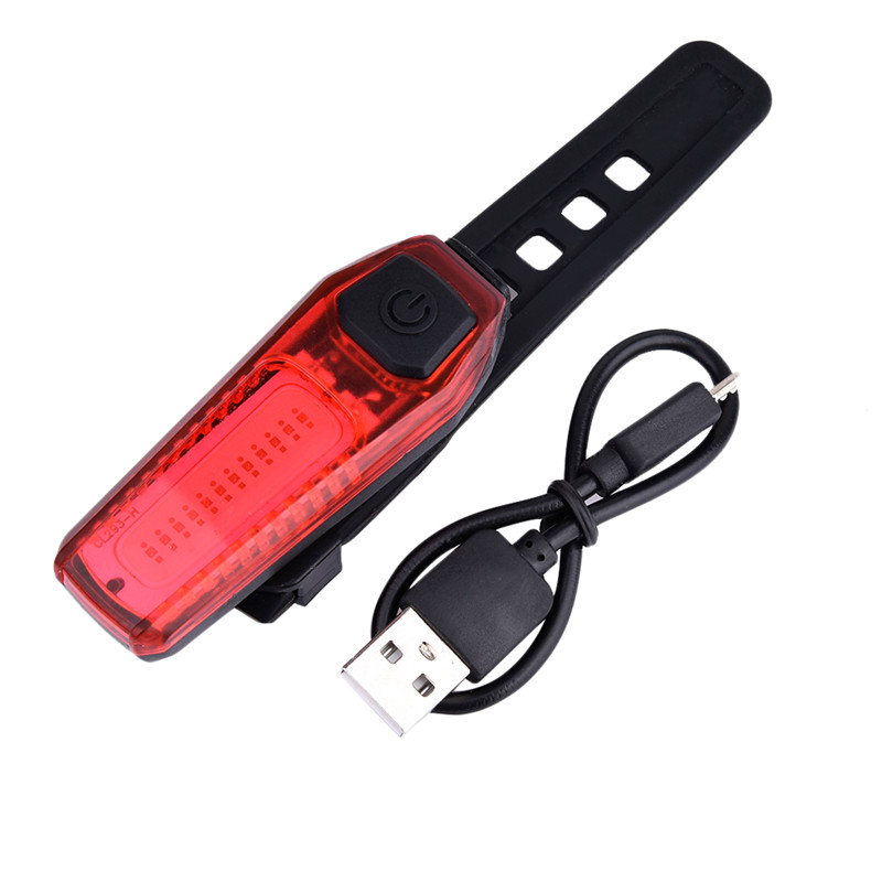 Night Mountain Cycling Bike Taillights USB Chargable Warning Front /& Rear Lights